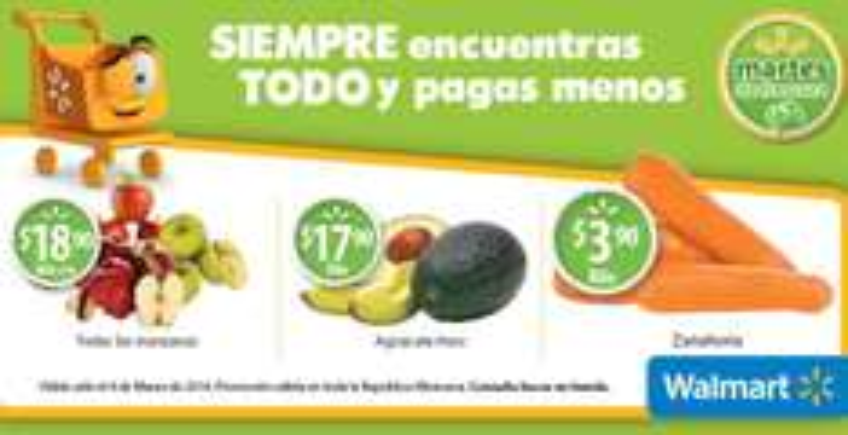 Martes de frescura en Walmart marzo 4: manzanas $18.90 el kilo