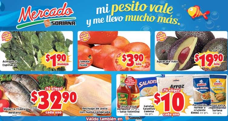 Ofertas de frutas y verduras en Soriana marzo 4 y 5: tomate $3.90 el kilo y más