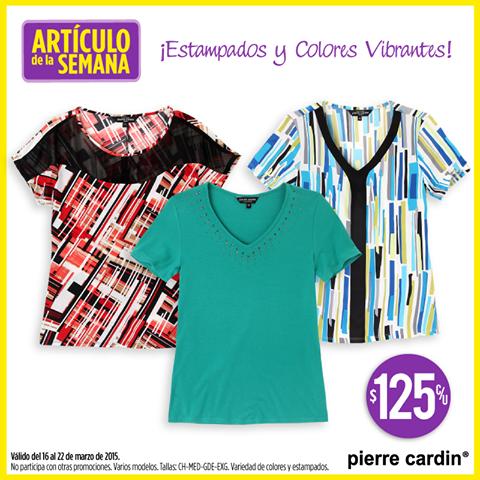 Suburbia: blusas Pierre Cardin para mujer $125