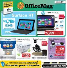 Folleto de ofertas en OfficeMax del 3 al 30 de marzo