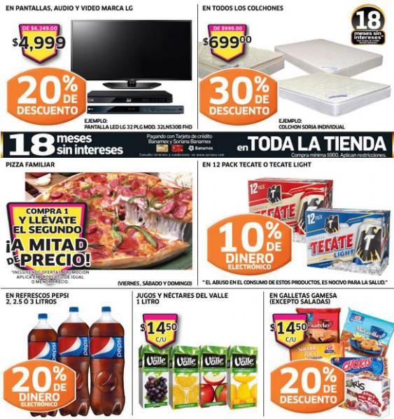 Soriana: 30% de descuento en colchones, 20% en galletas, pantallas LG y más