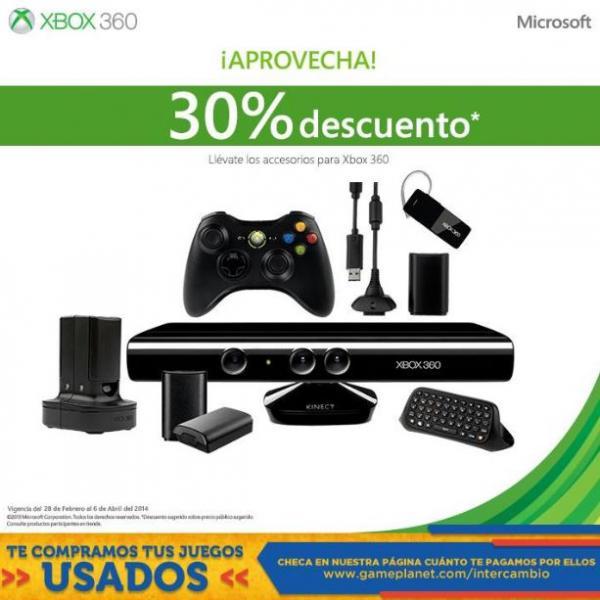 Game Planet: 30% de descuento en accesorios para Xbox 360