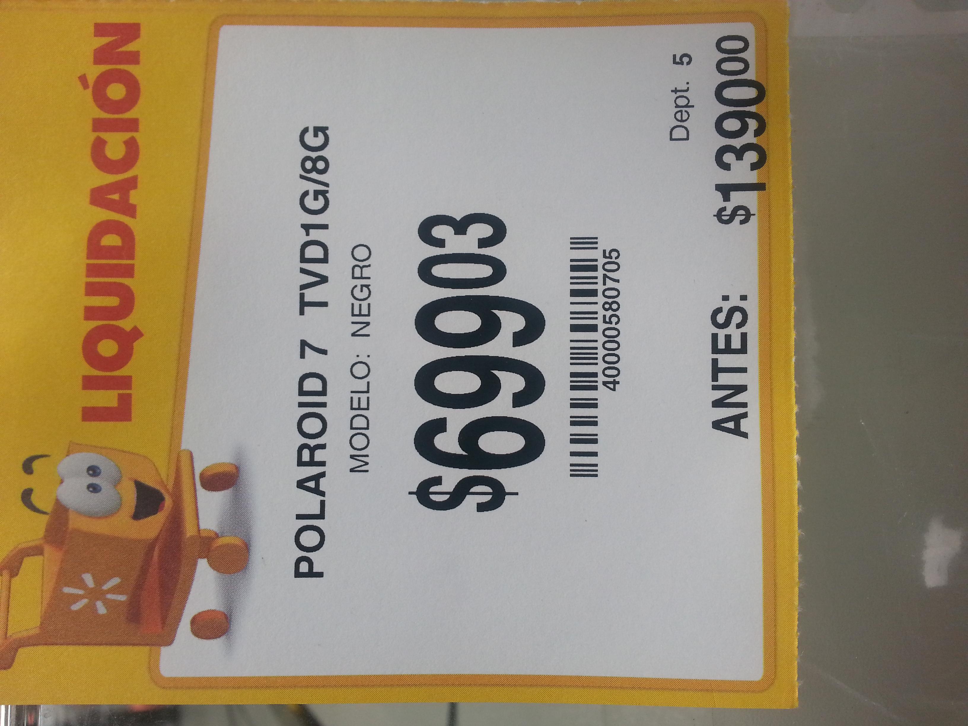 "Walmart: tablet Polaroid 7"" tvd1g / 8g"