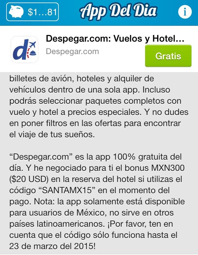 Despegar.com: Cupón de $300 de descuento para reservar Hotel