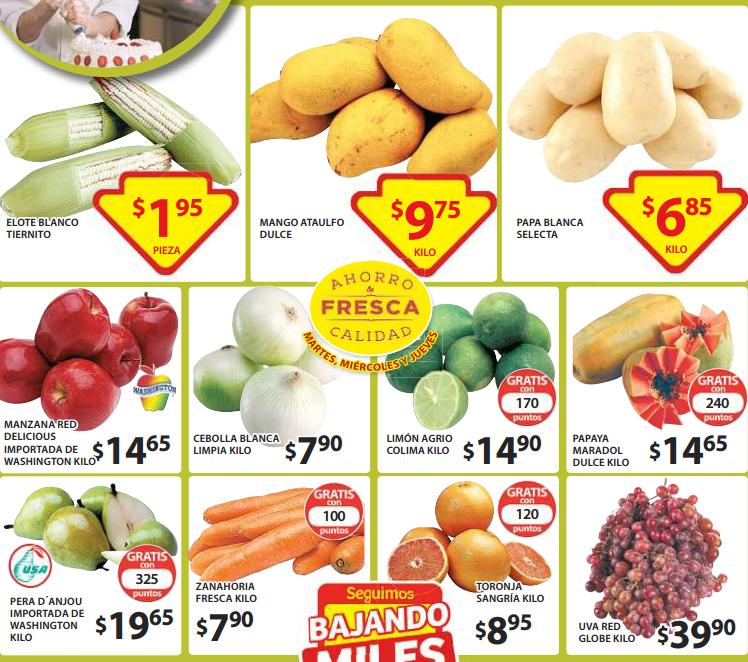 Ofertas de frutas y verduras en Soriana marzo 24. Mojarra $59 el kilo.