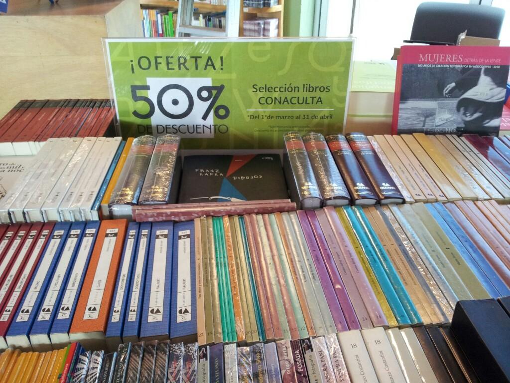 Librerías Educal, 50% en títulos seleccionados de editorial Conaculta