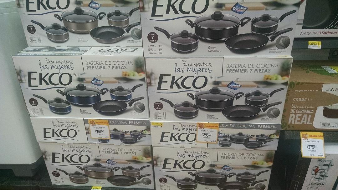 Walmart: Liquidaciones de Baterias de cocina marca Ekco y vajillas