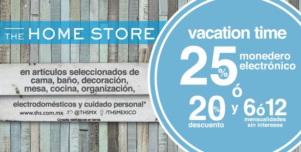 The Home Store: 25% de bonificación o 20% de descuento en varias categorías y artículos
