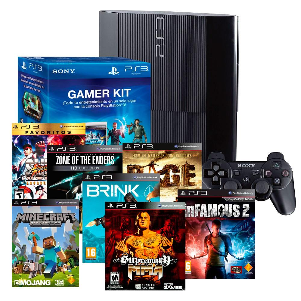 Walmart: PlayStation 3 500GB + Dualshock3 adicional + 8 juegos