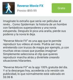Aplicación Android Reverse Movie FX Gratis