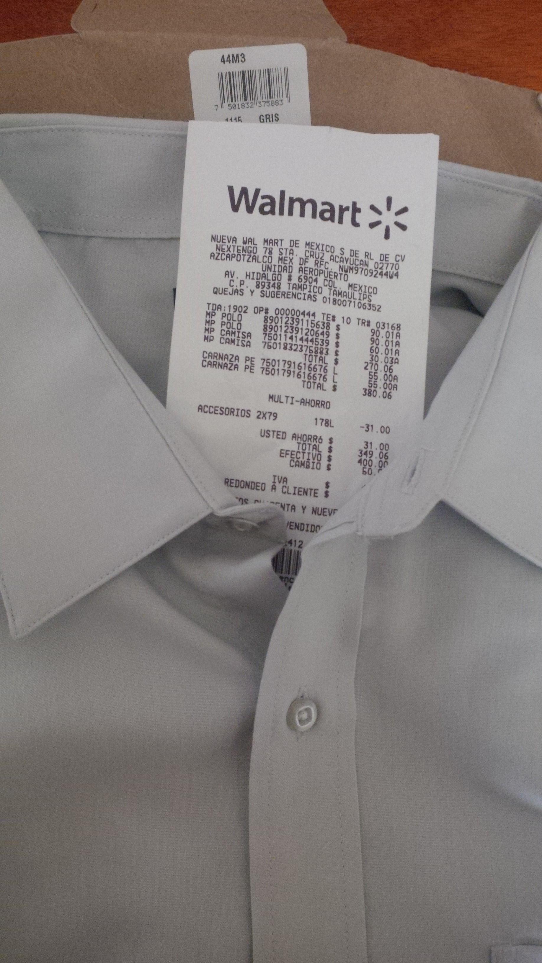 Walmart: liquidación Camisa Casual Cosmo