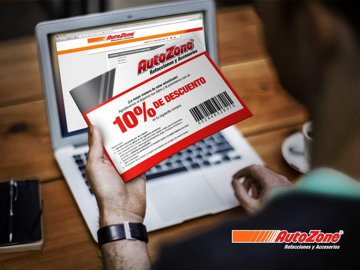 AutoZone: 10% de descuento al registrarte.