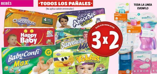 Farmacias Guadalajara: 3x2 en pañales, jabones Dove, pastas La Moderna y más