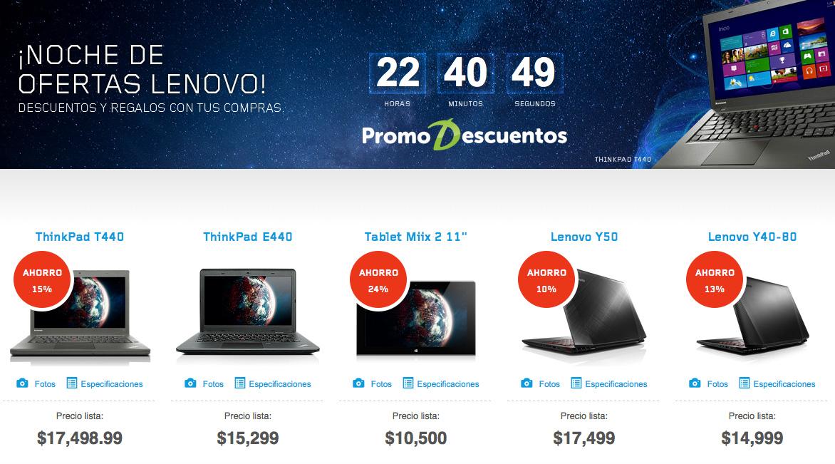 Lenovo: Esta noche increibles ofertas