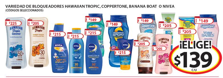 Soriana Hiper: Ofertas de fin de semana, bloqueadores de sol, bermudas y trajes de baño $139 (Folletos Hiper y Super)