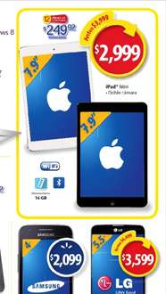 "Walmart: ipad mini $2999 y pantalla LG Smart TV 50"" $9,999"
