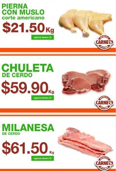 Ofertas de carnes en La Comer febrero 25