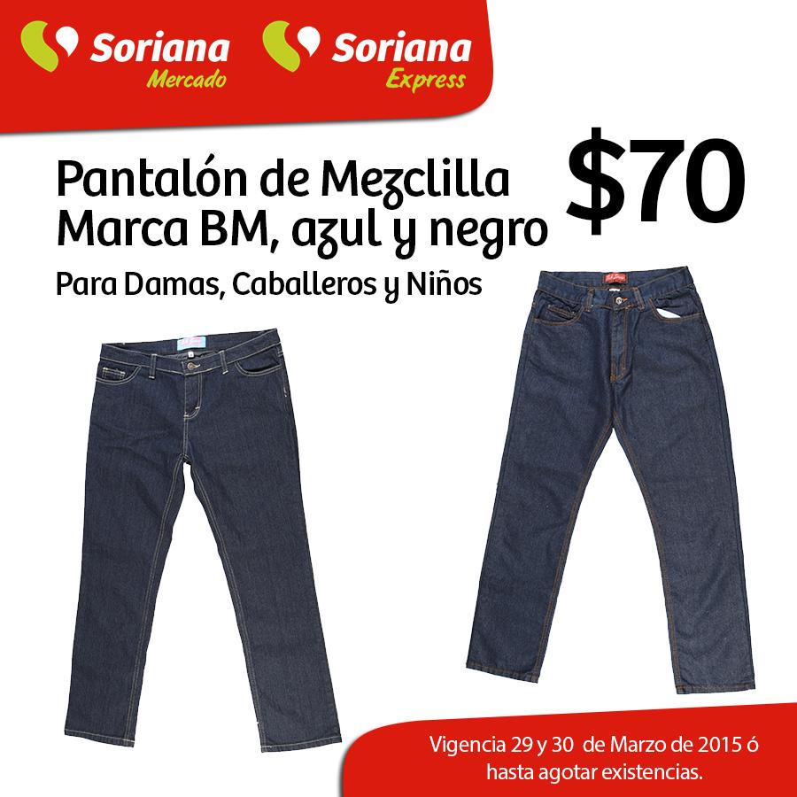 Mercado Soriana: Pantalon de Mezclilla a $70