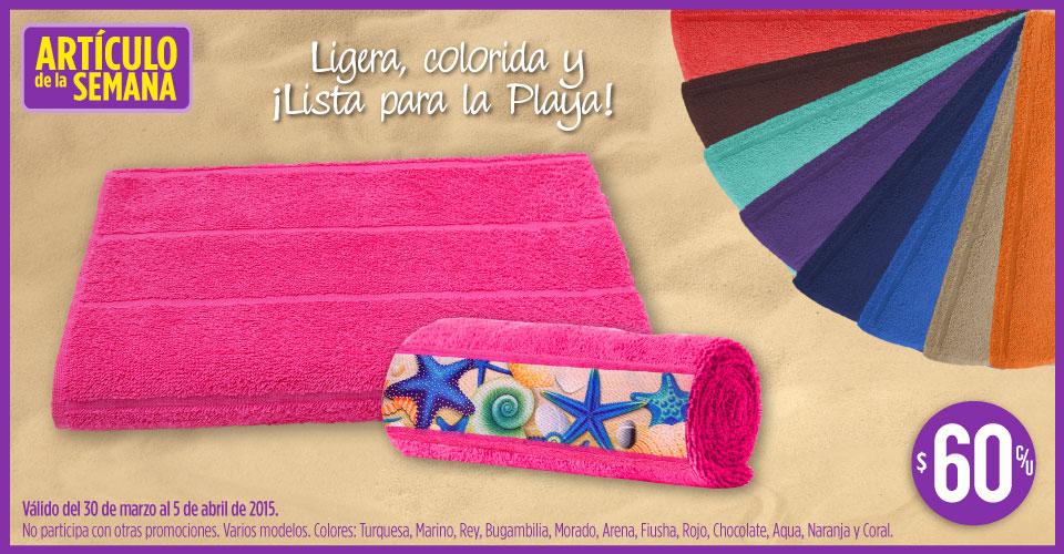 Suburbia: toallas de playa $60
