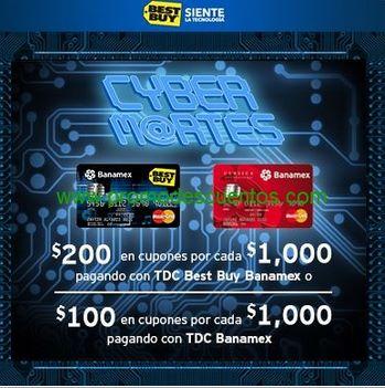 Cyber Martes Best Buy Banamex: $100 ó $200 de bonificación por cada $1,000