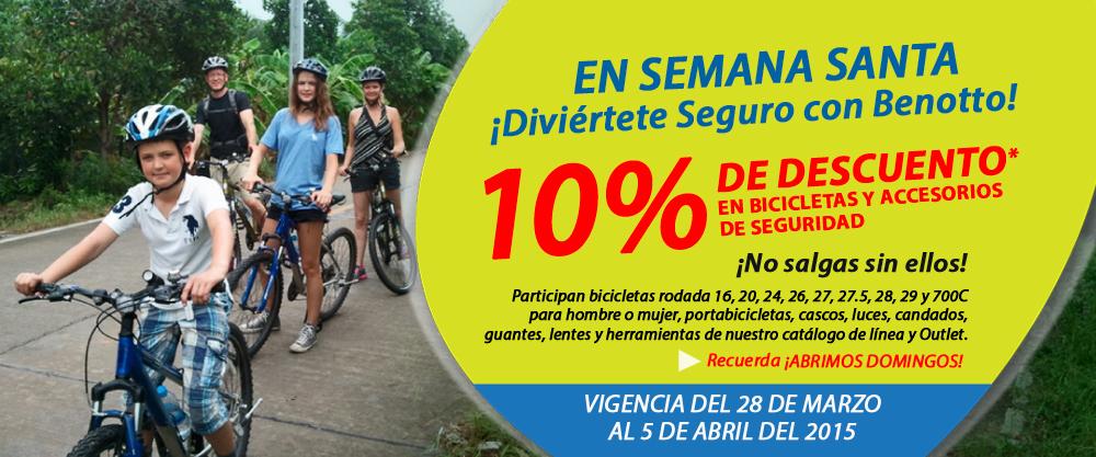 Benotto: 10% de decuentos en bicicletas y accesorios