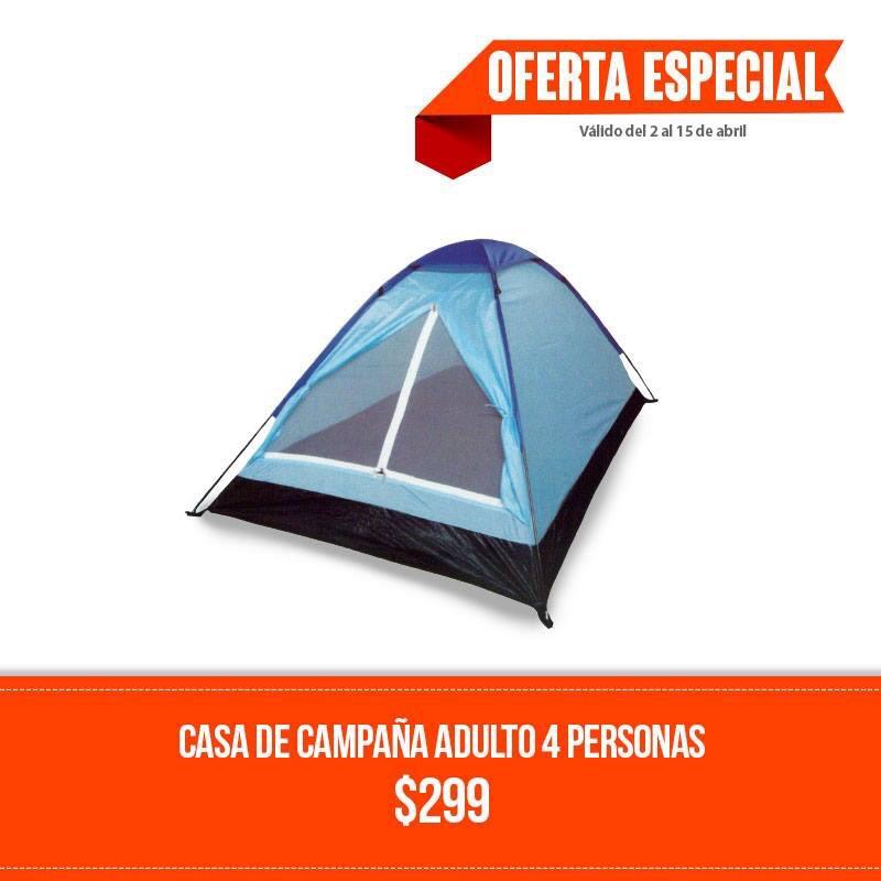 Chedraui: Casa de campaña para 4 personas a $299