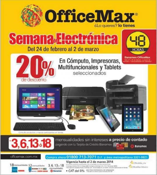 OfficeMax: semana de la electrónica (actualizado)