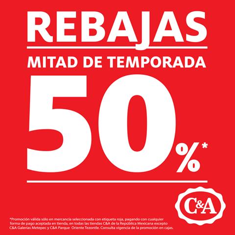 C&A: 50% de descuento en mercancía marcada
