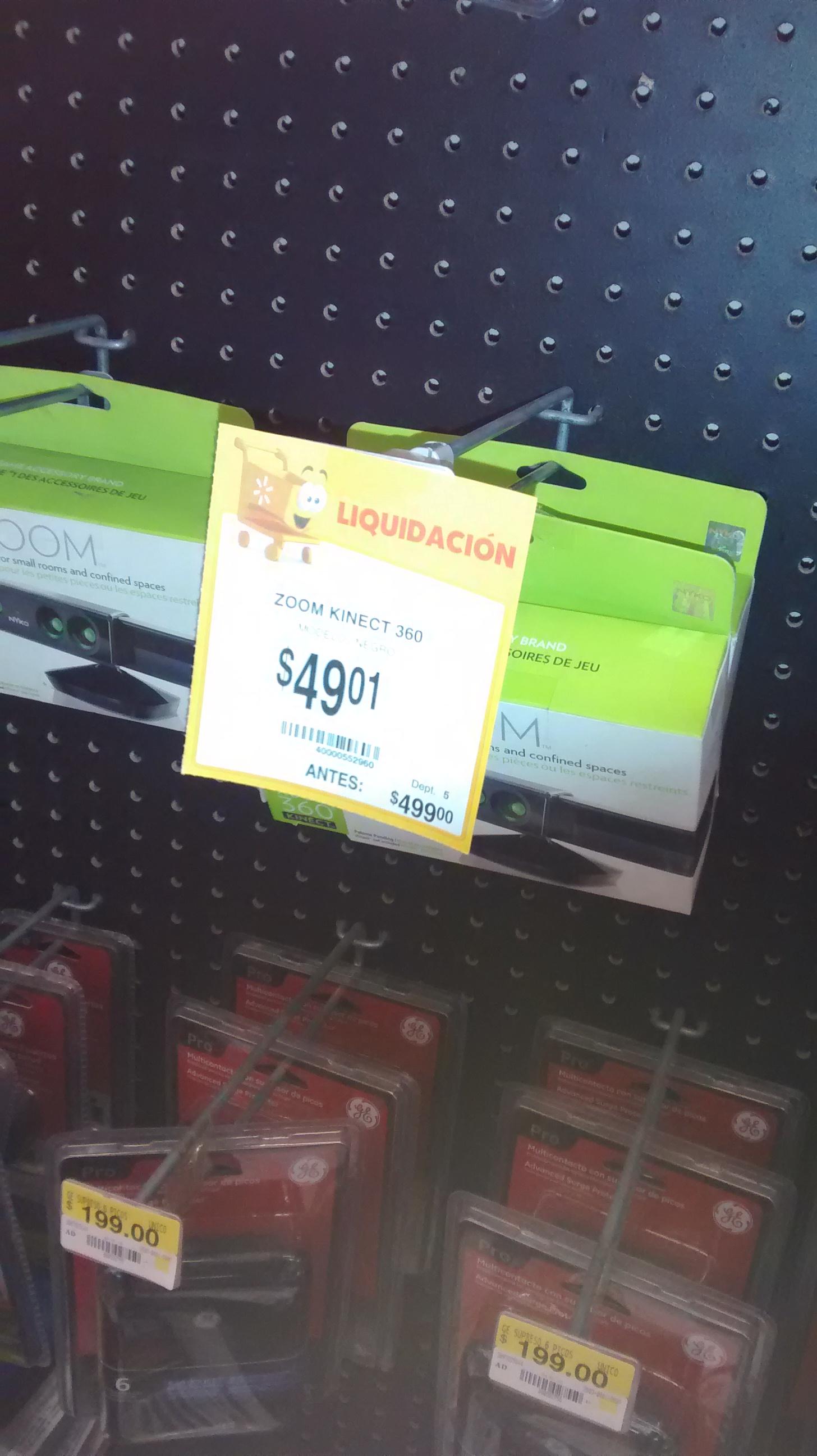 Walmart: Zoom Kinect Xbox 360 $49 y Base para Kinect $39