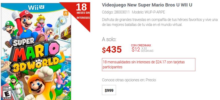 Elektra: New Super Mario Bros U para Wii U $435