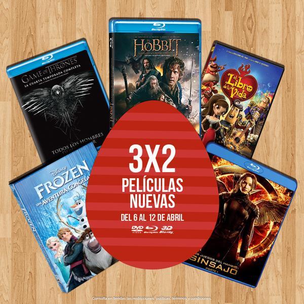 Blockbuster: 3x2 en películas nuevas