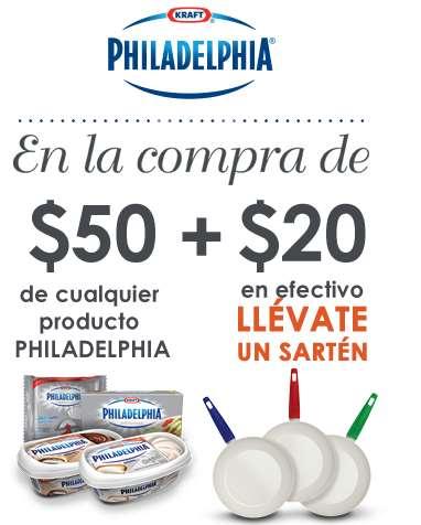 Sartén a $20 u olla a $25 comprando productos Philadelphia
