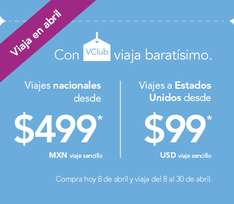 Volaris: Viaja en Abril con vclub $500 y Normal en $900