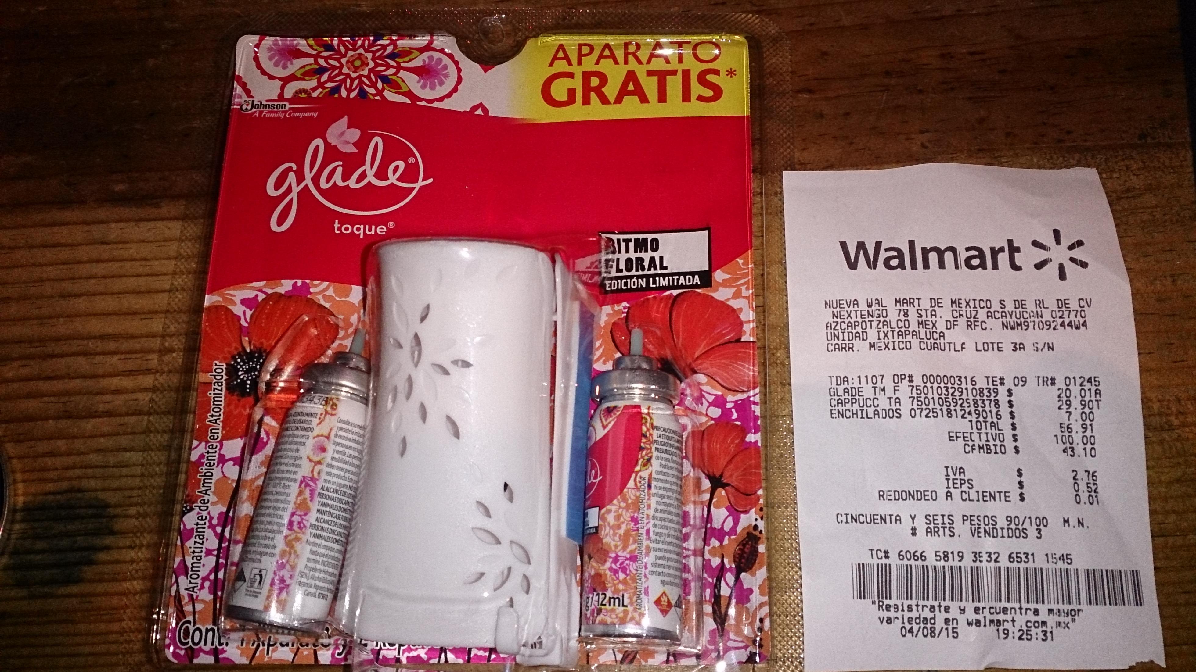 Walmart: Aromatizante Glade a $20