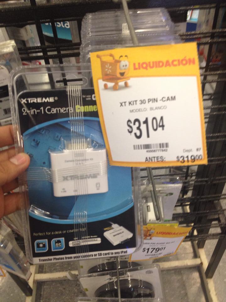 Walmart: Adaptador 2 en 1 para iPad (USB y SD) a $31.04