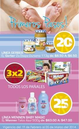 Farmacia San Pablo: 3x2 en todos los pañales y descuentos en artículos para bebés