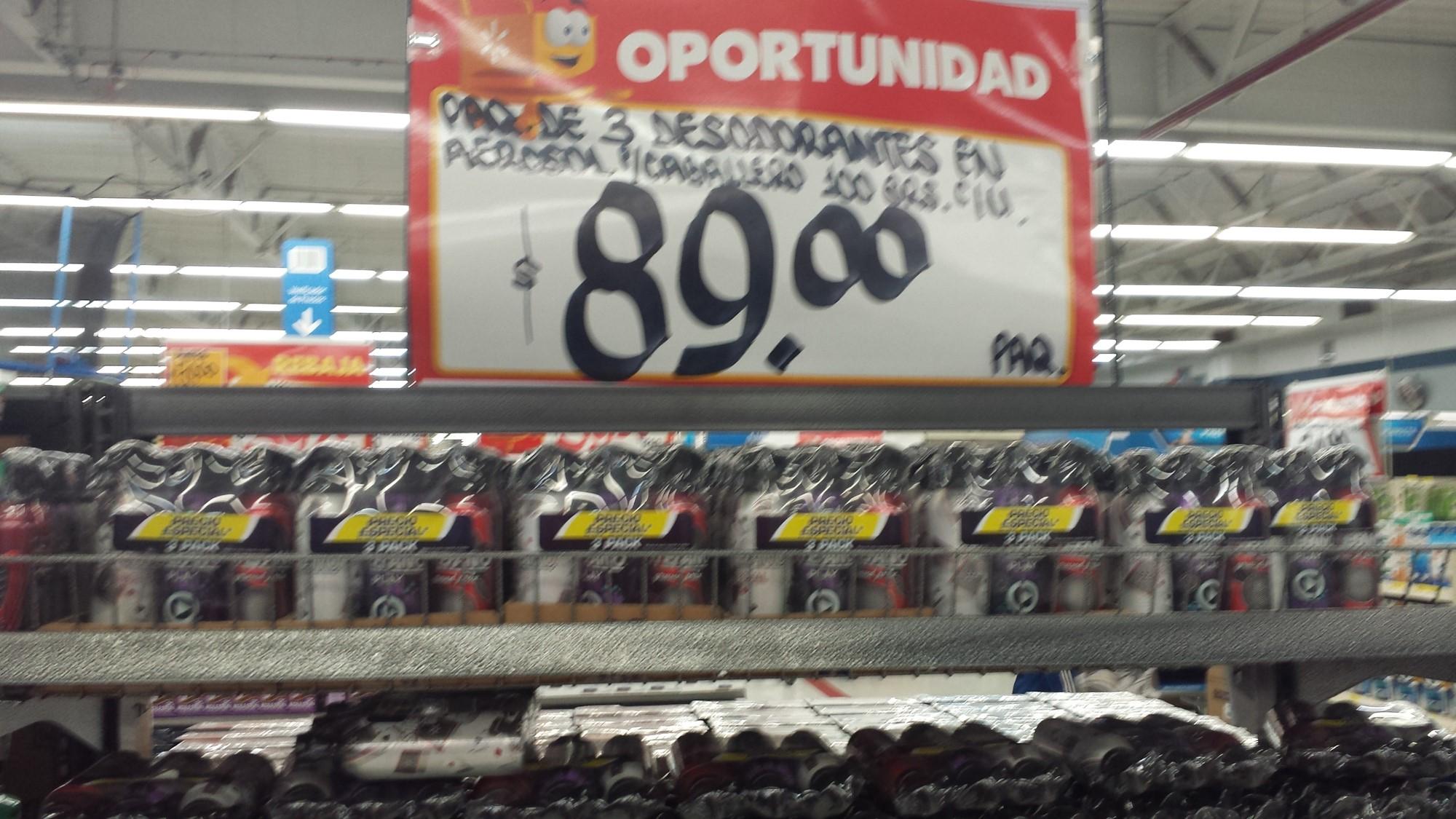 Walmart: Desodorante Estefano paquete de 3 a $89