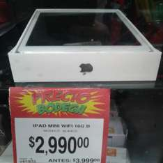 Bodega Aurrerá: iPad Mini 1 Wifi de 16GB a $2,990