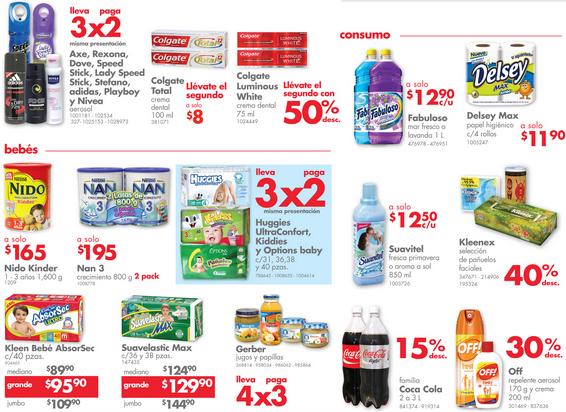 Farmacias Benavides: 3x2 en pañales y desodorantes seleccionados, 40% menos en Kleenex y más