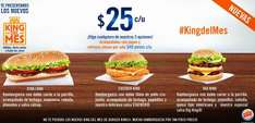 Burger King: hamburguesas dobles King del mes $25