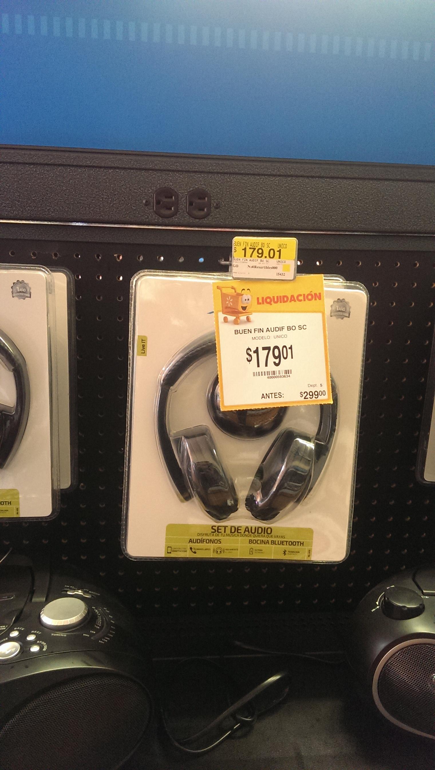 Walmart: Audífonos y bocina Bluetooth acteck a $179