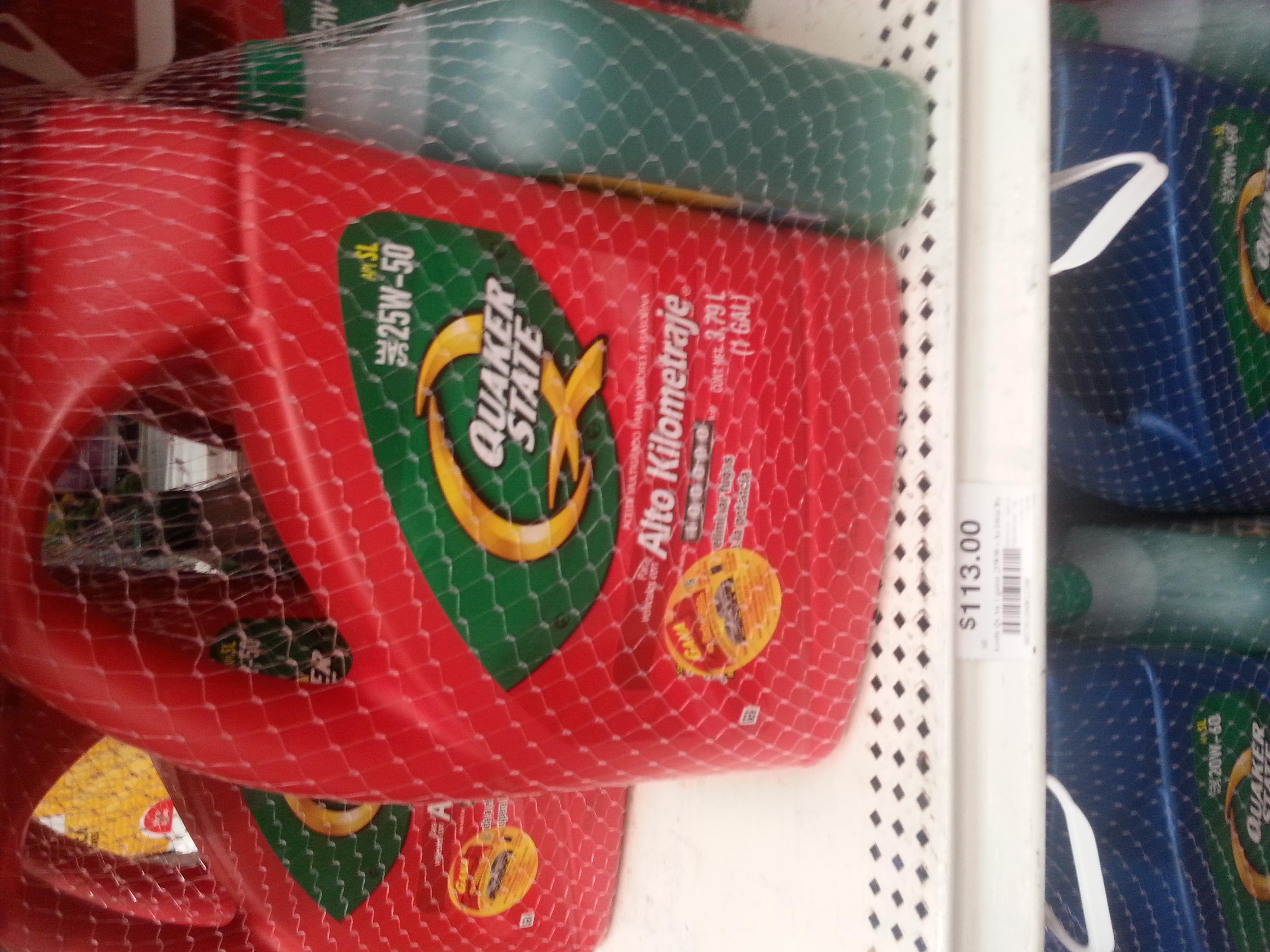 Chedraui: Aceite para auto Quaker de 1 galón + 1L de Anticongelante a $113