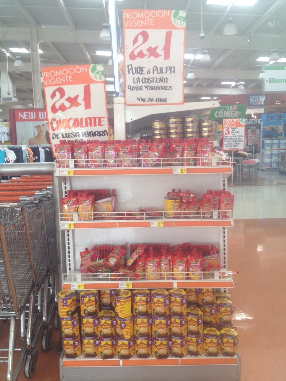 La Comer: 2x1 en Chocolate de mesa Ibarra y puré o pulpa La Costeña