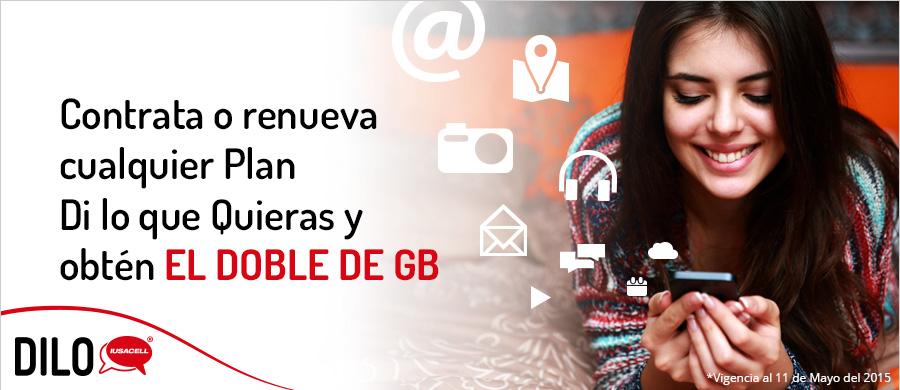 Iusacell: Doble de Internet al contratar o renovar un plan Dilo