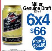 7 Eleven: 6x4 en cervezas Miller Genuine Draft