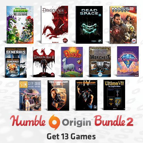 Humble Origins Bundle 2: paga lo que quieras Dragon Age, Dead Space 2 y más
