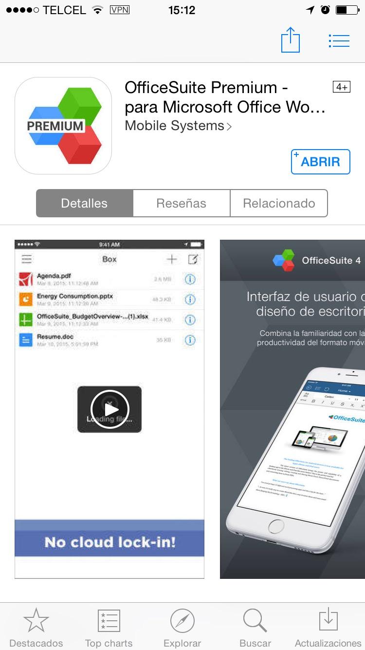 iTunes: OfficeSuite Premium gratis (edición y conversión de PDF Word, Excel)