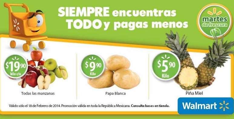 Martes de frescura en Walmart febrero 18: todas las manzanas $19.90 el kilo y más