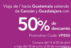 Volaris: nuevas rutas a Guatemala redondo desde $2,088 de Cancún y $2,333 de GDL