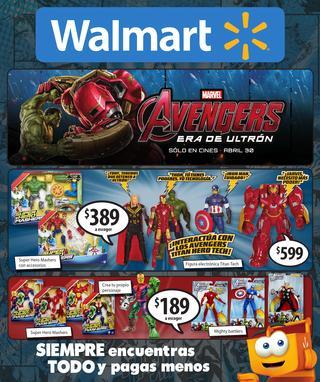 Walmart: Catalogo de Avengers